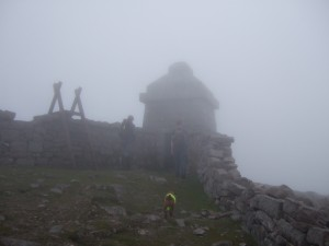 Tower at the top of Slieve Meelmore, Mourne Mountains